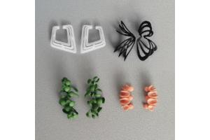 3Dプリントで耳にフィットするイヤーカフ作品